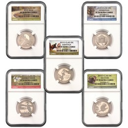 2015 S Clad Proof ATB Quarters NGC PF70 UC Picture Labels