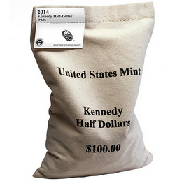 2014 P & D Kennedy Half Dollar OGP Bag