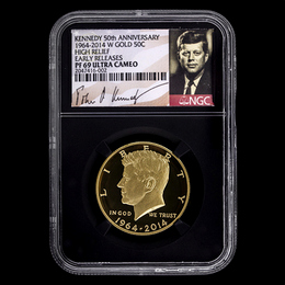 2014 W Gold 50th Ann. Kennedy NGC PF69 ER Black Core