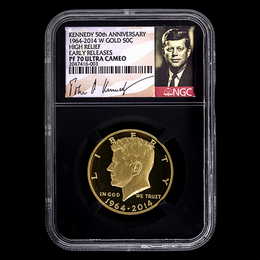2014 W Gold 50th Ann. Kennedy NGC PF70 ER Black Core