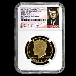 2014 W Gold 50th Ann. Kennedy NGC PF70 ER White Core