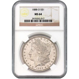 1888 O Morgan Dollar NGC MS64