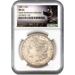 1881-S Morgan Dollar NGC MS63 'Great Northwest Collection'