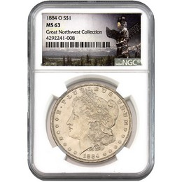 1884-O Morgan Dollar NGC MS63 'Great Northwest Collection'