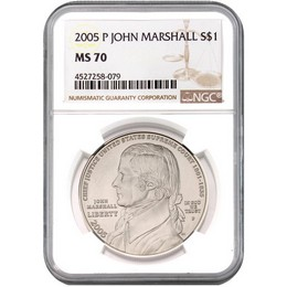 2005 P John Marshall Commem Dollar NGC MS70