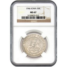 1946 Iowa Commem Half Dollar NGC MS-67