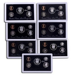 1992 - 1998 Silver Proof Sets OGP