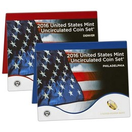 2016 P&D Mint Set in U.S. Mint Packaging