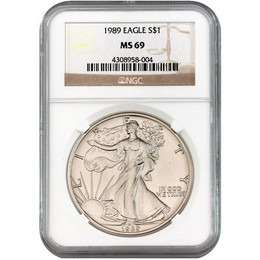 1989 Silver Eagle NGC MS69