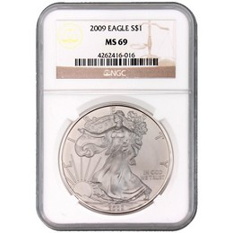 2009 Silver Eagle NGC MS69