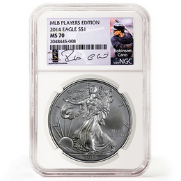 2014 Silver Eagle NGC MS70 'Robinson Cano' Label