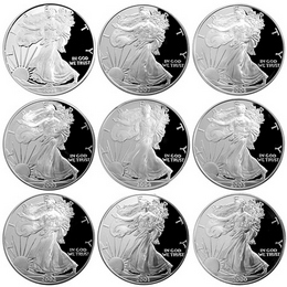 New Millennium Proof Silver Eagle OGP Collection
