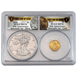 2016 30th Ann. Bimetallic Set PCGS MS70 FDI