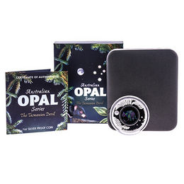 2014 Proof Silver Australian OPAL 'The Tasmanian Devil' OGP