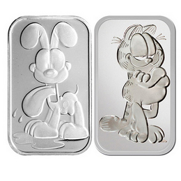 Garfield & Odie 1oz Silver Bars