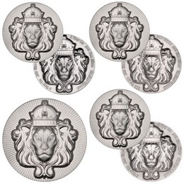Regal Lion Stacker® Rounds Collection (67.5 troy oz of Silver)