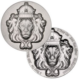 Regal Lion 2oz Ultra High Relief Silver Stacker® Round