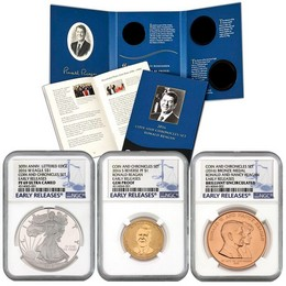 2016 Coin & Chronicles Set-Reagan with PF SAE Certified NGC PF 69 UC ER