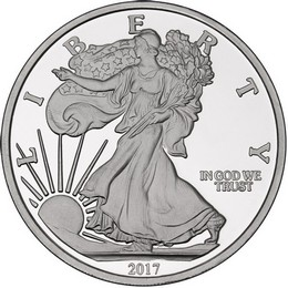 2017 Silver American Eagle Replica 5oz .999 Silver Medallion