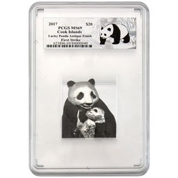 2017 Cook Islands Lucky Panda PCGS MS69 First Strike