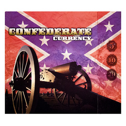 Confederate States of America 3 Piece Currency Set in Folder