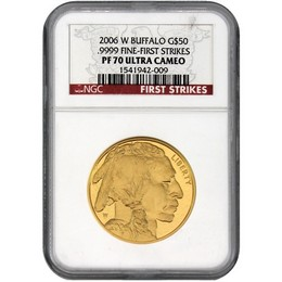 2006 W $50 Proof Gold Buffalo NGC PF70 UC First Strike
