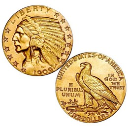 Labor Day Special: $5 Gold Indian Head XF-AU
