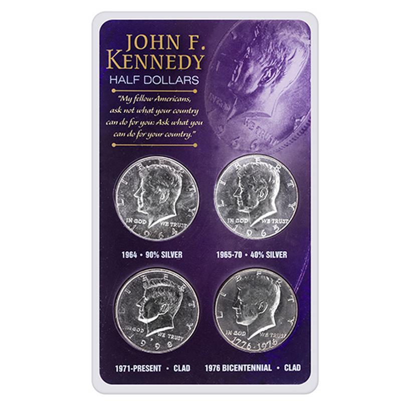 Kennedy Half Dollar Acrylic Set