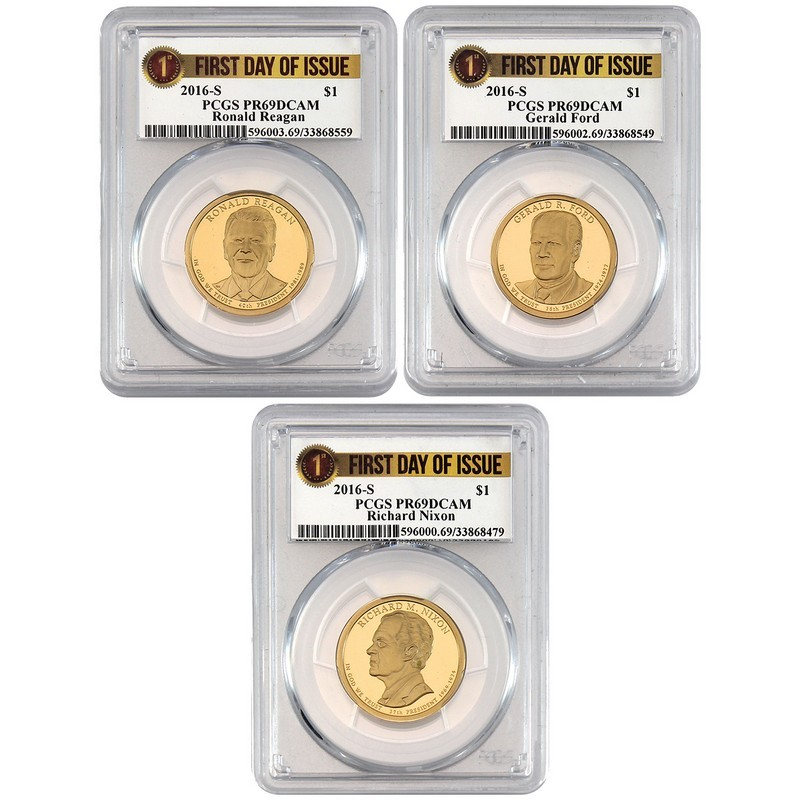 2016-S  Richard Nixon 37th  President  Dollar PCGS First Day of Issue PR69DCAM