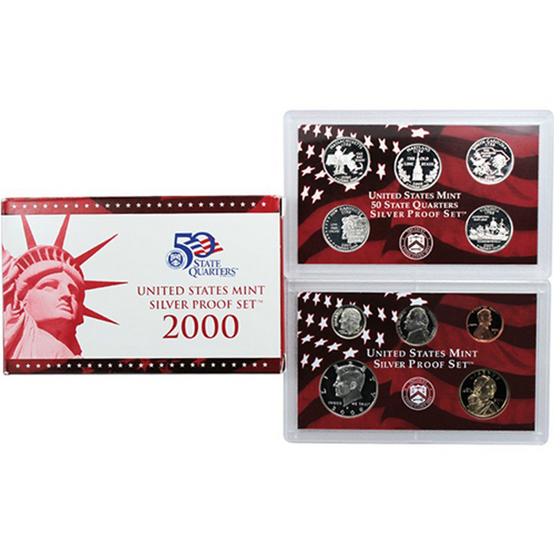 2000 Silver Proof Set 10 pc