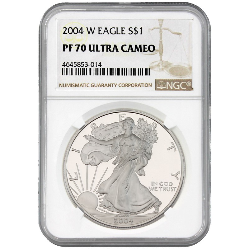2004-W NGC PF70 Ultra Cameo Proof Silver Eagle