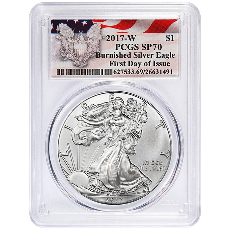 2017-W Burnished Silver Eagle PCGS SP70