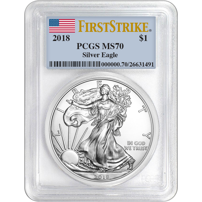 2018 American Silver Eagle First Strike PCGS MS70