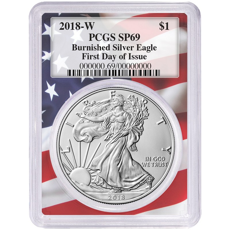 PCGS SP69 2018-W American Silver Eagle Burnished