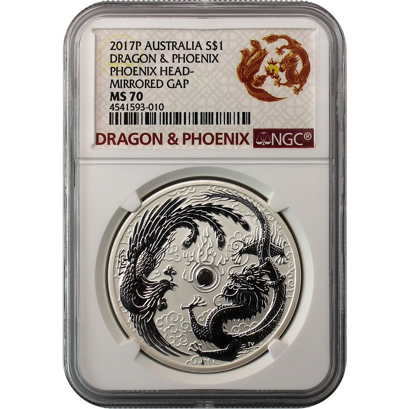 Limited Mintage 50K 2017 Australian ERROR DRAGON and PHOENIX Silver Coin