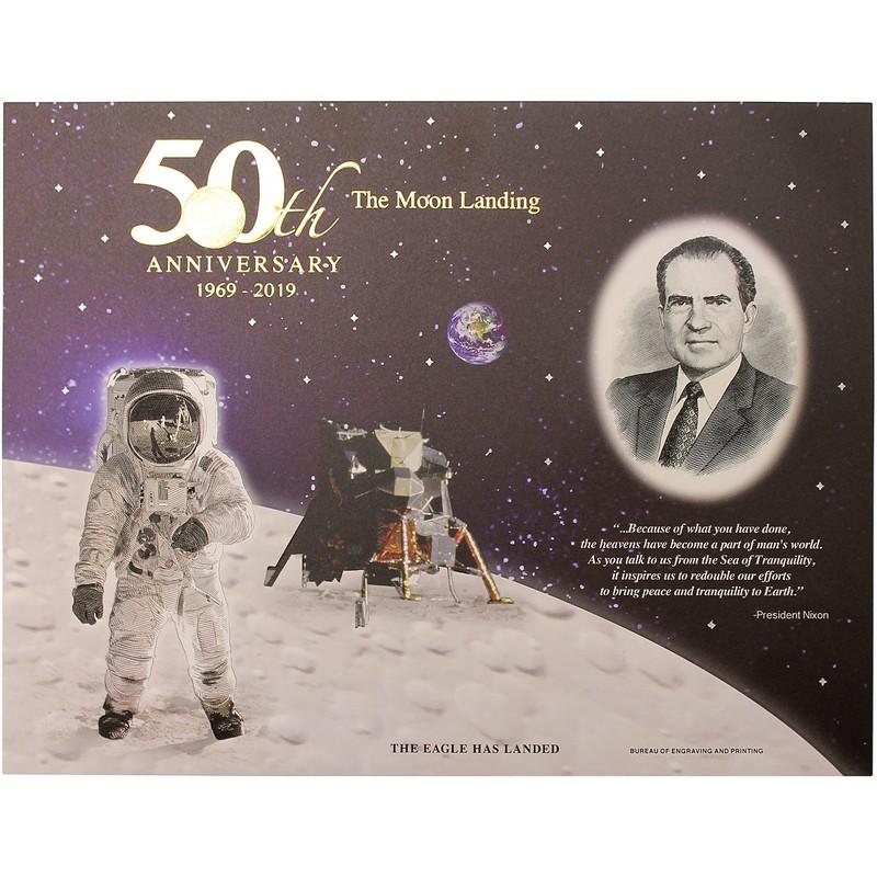 Apollo 11 50th Anniversary 2019 Engraved Prints Set of 3 The Moon Landing Series