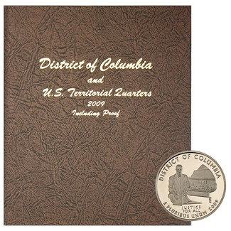 2009 D.C. & U.S. Territories Deluxe Quarters in Dansco Album