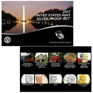 2017 S Silver Proof Set in OGP (10 Coins)