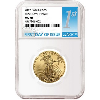 2017 $25 Gold Eagle NGC MS70 FDI Label