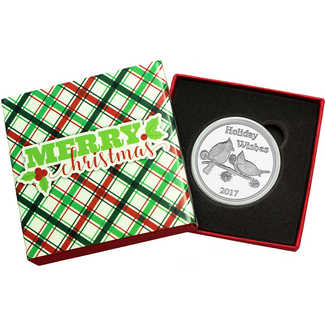 2017 Holiday Wishes Cardinals 1oz .999 Silver Medallion