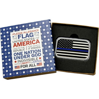 "1oz Silver ""Thin Blue Line"" American Flag + 10% donation"