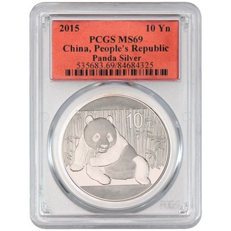 2015 Silver China Panda PCGS MS69 Red Label