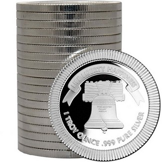 Liberty Bell Stackables™ 1oz .999 Silver Medallion (20 Count in Tube)