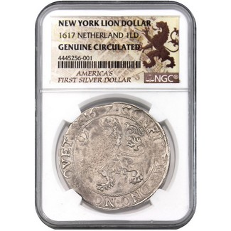 New York Lion Dollar 1601-1693 NGC Genuine Circulated