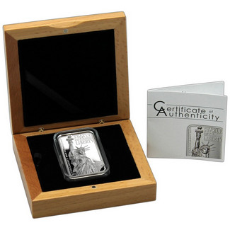 2017 $10 Statue of Liberty Rectangular Coin 2oz Silver w/Smartminting
