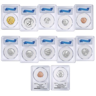 225th Anniversary Enhanced Uncirculated Coin Set PCGS SP69 First Day of Issue
