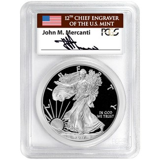 2017 S 'Limited Edition Set' Silver Eagle PCGS PR70 DCAM 1 of 1000 1st Day Issue Mercanti Signed