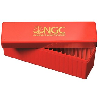 Red NGC Graded Coin Storage Case (holds 20 certified coins)