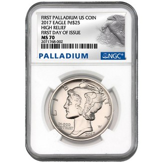 2017 $25 1 oz Palladium Eagle NGC MS70 First Day Issue