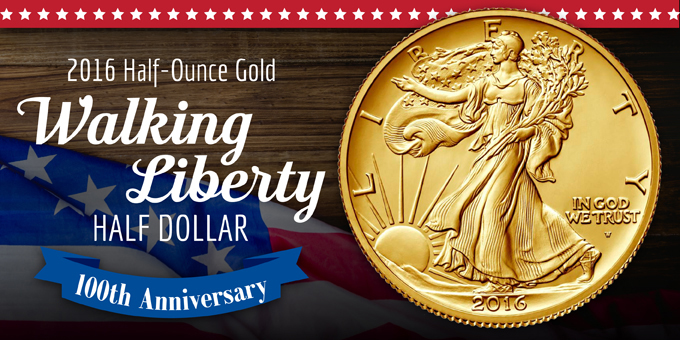 2016 Walking Liberty New Release